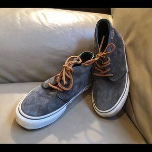 VANS Grey Suede Leather Hi Top Professional Slate